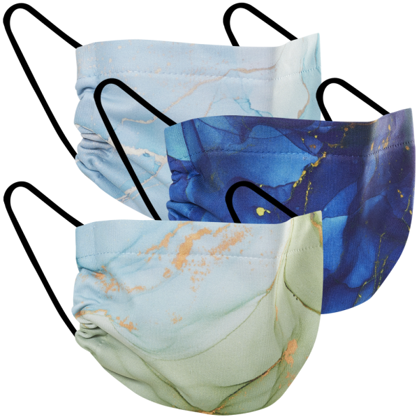 Marbled - Three Pack Fabric Face Mask