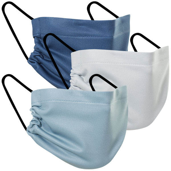 Winter Blues - Three Pack Fabric Face Mask