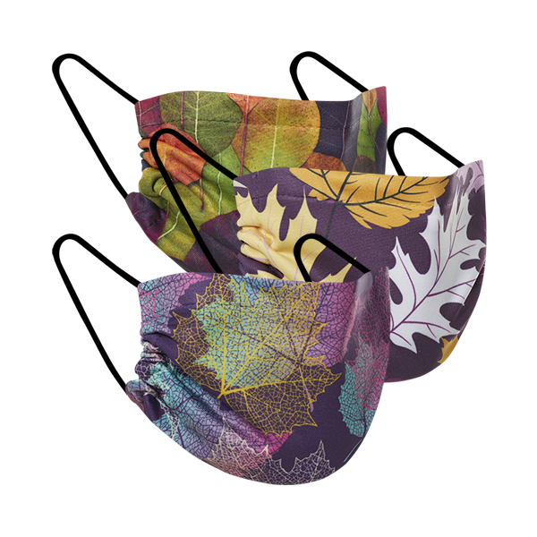 Falling Leaves - Three Pack Fabric Face Mask