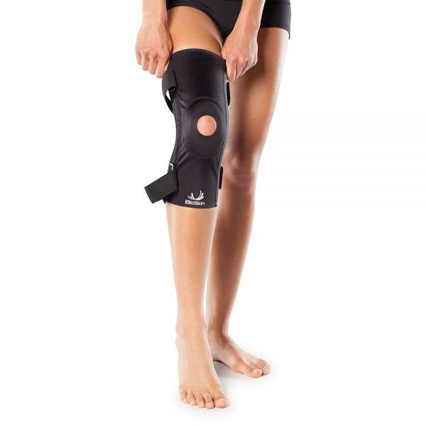 Knee brace for patella stabilization