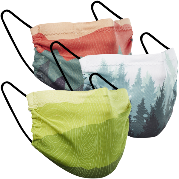 Mountain Prints - Three Pack Fabric Face Mask