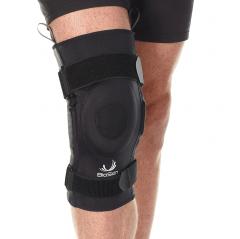 Hinged knee brace with gel